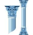 Ancient stone columns vector image