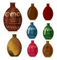 decorative vases vector image