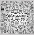 E commerce doodle icons collection vector image