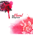 Floral watercolor background vector image
