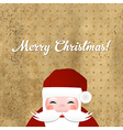 Greeting Retro Card With Santa Claus vector image