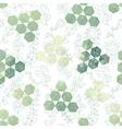 hexagon triangle flower vector image