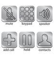 icon telephone vector image