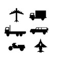 vehicle and transportation vector image