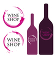 Wine Logo with Stains and Splashes vector image