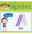 Flashcard letter S is for slide vector image