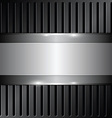 shiny metallic on grille background vector image vector image
