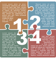 Puzzle with numbers and place for your text vector image vector image