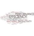 efficiency word cloud concept vector image