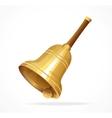 Gold vintage retro school bell vector image