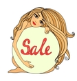 Sale symbol badge template vector image vector image