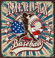 american baseball sport vector image vector image