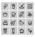 black kitchen icons set vector image vector image