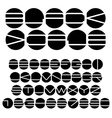Unusual black and white alphabet vector image vector image