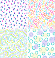 Neon abstraction seamless patterns set vector image vector image