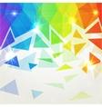 Abstract shining polygonal rainbow background vector image