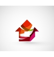 Abstract geometric company logo home house vector image