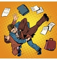 Fight men businessmen vector image
