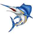 blue marlin fish cartoon vector image