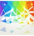 Abstract shining polygonal rainbow background vector image
