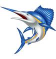 blue marlin fish cartoon vector image