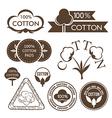 Cotton decoration elements vector image