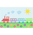cute cartoon train vector image