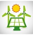 ecological alternative energy green vector image