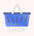 flat icon in shading style basket shop vector image