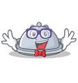 geek tray character cartoon style vector image