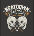 Grunge Design with Skulls vector image