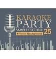 karaoke parties over modern city vector image
