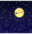Santa Claus riding on a reindeer night vector image