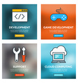 Set of flat design concepts Development game vector image