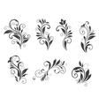 Seven floral elements vector image