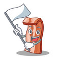 with flag bacon mascot cartoon style vector image