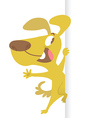 Cartoon dog and banner vector image vector image