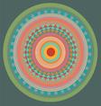 Green color mandala vector image