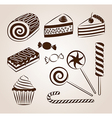 Sweet pastry collection vector image
