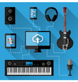 Music recording studio concept vector image vector image
