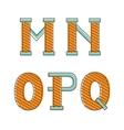 Colorful alphabet letters mno pq vector image
