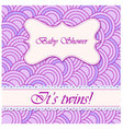 baby-shower-circle-pattern-twins vector image