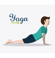 People doing yoga desgin vector image
