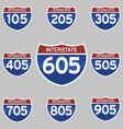 INTERSTATE SIGNS 105-905 vector image