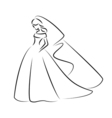 Abstract outline of a young elegant bride vector image