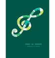 abstract green circles gclef musical vector image