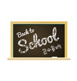back to school on a chalkboard vector image