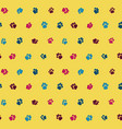 funny seamless pattern with cats footprints on a vector image