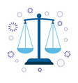 icon scales of justice sign of judge or lawyer vector image