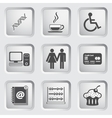 Icons on the buttons for Web Design Set 5 vector image